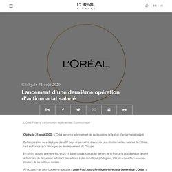 L'Oréal Finance : Lancement d'une deuxième opération d'actionnariat salarié