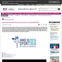 Lancement de l'Année du sport de l'école à l'université 2015-2016