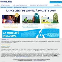 Lancement de l'Appel à Projets 2015
