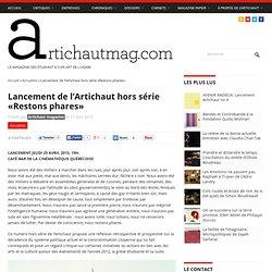Lancement de l'Artichaut hors série «Restons phares» - Artichaut magazine