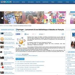Springer : Lancement d'une bibliothèque d'ebooks en français