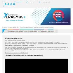 Lancement national des célébrations des 30 ans d'Erasmus +