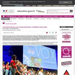 Chorale_Lancement de Vox, ma chorale interactive, à la Maison de la radio_ressources_MEN