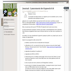 Lancement de Gspeech 0.8