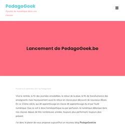 Lancement de PedagoGeek.be – PedagoGeek