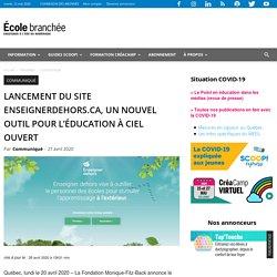 Lancement du site enseignerdehors.ca, un nouvel outil pour l'éducation à ciel ouvert