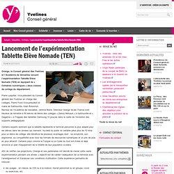Lancement de l'expérimentation Tablette Elève Nomade (TEN)