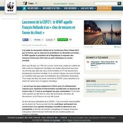 Lancement de la COP21: le WWF appelle François Hollande à un «choc de mesures en faveur du climat»