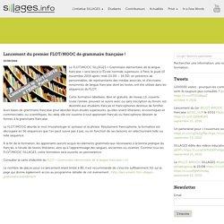 Lancement du premier FLOT/MOOC de grammaire française !