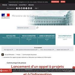 Lancement d'un appel à projets national sur l'éducation aux médias et à l'information