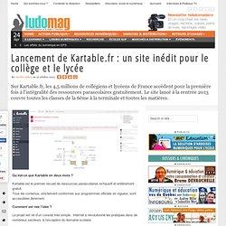 Lancement de Kartable.fr : un site inédit pour le collège et le lycée - Ludovia Magazine