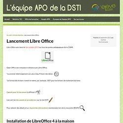 Lancement Libre Office
