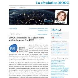 MOOC: lancement de la plate-forme nationale, ça va être FUN