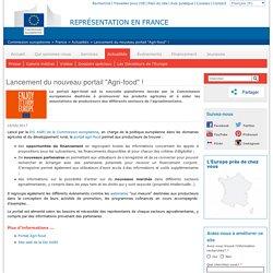 """EUROPE_EU 10/05/17 Lancement du nouveau portail """"Agri-food"""" !"""