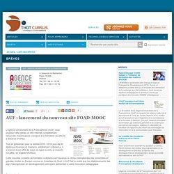 AUF : lancement du nouveau site FOAD-MOOC