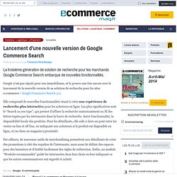 art. nouvelle version de Google Commerce Search