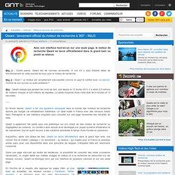 Qwant: lancement officiel du moteur de recherche à 360°
