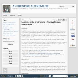 APPRENDRE AUTREMENT