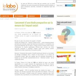 Lancement d'une étude prospective sur la mesure de l'impact social