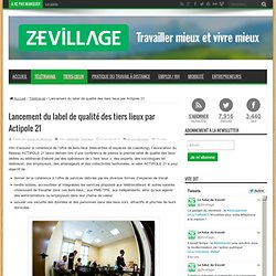 Actipole 21 lance un label de qualité pour les espaces de télétravail et de coworking