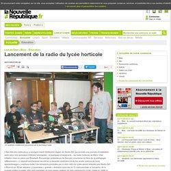 Lancement de la radio du lycée horticole - 20/11/2015