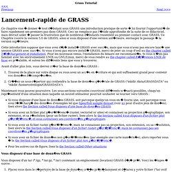 Lancement-rapide de GRASS
