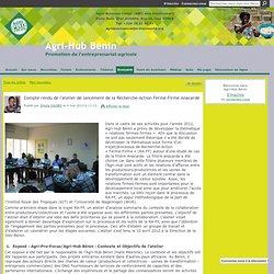Relations Fermes-Firmes - Agri-Hub Bénin