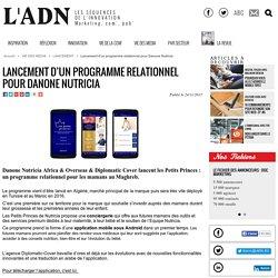 Lancement d'un programme relationnel pour Danone Nutricia - LANCEMENT
