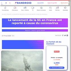 Le lancement de la 5G en France est reporté à cause du coronavirus