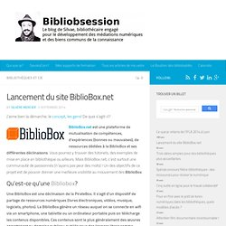 Lancement du site BiblioBox.net -