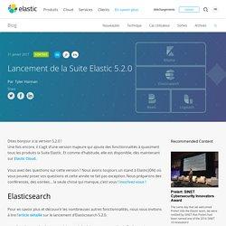 Lancement de la Suite Elastic 5.2.0