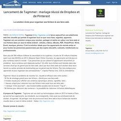 Lancement de Tagmmer: mariage réussi de Dropbox et de Pinterest