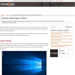 Premier lancement de Word, le traitement de texte de Microsoft