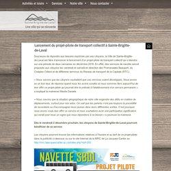 Lancement du projet-pilote de transport collectif à Sainte-Brigitte-de-Laval