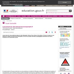 Lancement du site trousseaprojets.fr