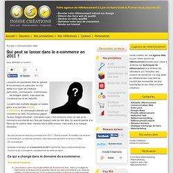 Qui peut se lancer dans le e-commerce en 2011 ?