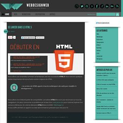 Se lancer dans le HTML 5