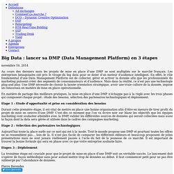 Big Data : lancer sa DMP (Data Management Platform) en 3 étapes