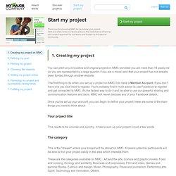 Lancer un projet sur My Major Company