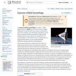 Lanceur orbital monoétage