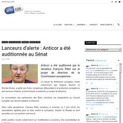 Lanceurs d'alerte : Anticor a été auditionnée au Sénat