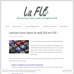 Lancez-vous dans le web 2.0 en FLE !