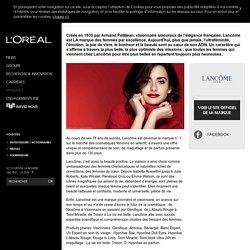 Lancôme : maquillage, parfum, cosmétique, soin de beauté-L'Oréal Groupe