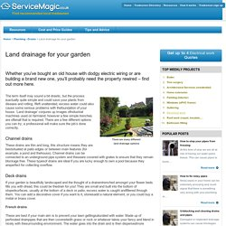 Land drainage for your garden