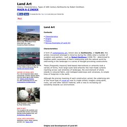Land Art: History, Characteristics