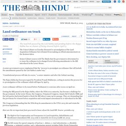 Land ordinance on track