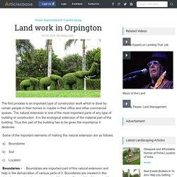 Land work in Orpington - Crest Landscapes, Uk