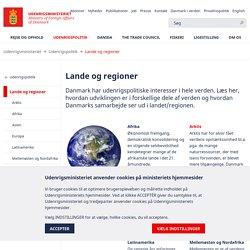 Udenrigsministeriet - Lande og regioner