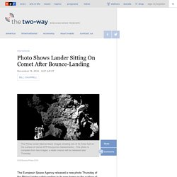 Photo Shows Lander Sitting On Comet After Bounce-Landing