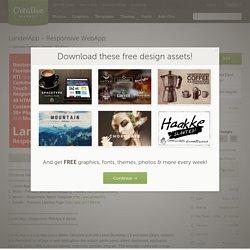 LanderApp - Responsive WebApp ~ Bootstrap Themes on Creative Market